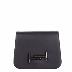 Кожаный клатч Genuine Leather 7802 темно-синего цвета с декоративным элементом на клапане 000092669