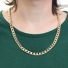 Золотая цепь Статус в крупном панцирном плетении