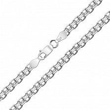 Серебряная цепочка Данис в плетении двойной якорь, 2мм