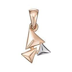 Золотой кулон Пирамидки в комбинированном цвете 000121532