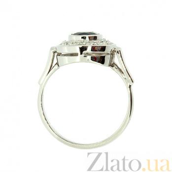 Кольцо из белого золота с сапфиром и бриллиантами Орнелла ZMX--RS-6171w_K