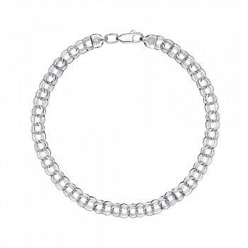 Серебряный браслет в плетении бисмарк 6 мм 000148320