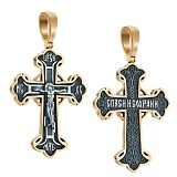 Крест из серебра Олицетворение веры с позолотой и чернением