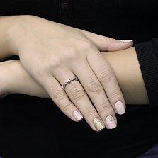 Золотое помолвочное кольцо Горидж в белом цвете с бриллиантом