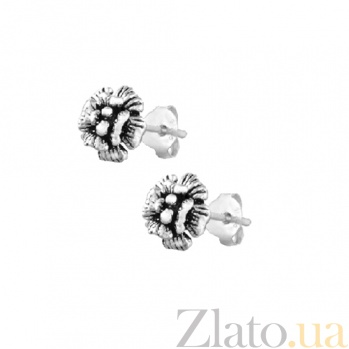 Серебряные сережки Нарциссы SLX--С5/054