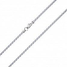 Светло- серый шелковый шнурок Ветер с серебряным замком,2.5 мм