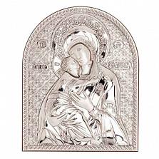 Владимирская икона серебряная Божьей Матери