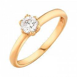 Золотое помолвочное кольцо с фианитом 000071572