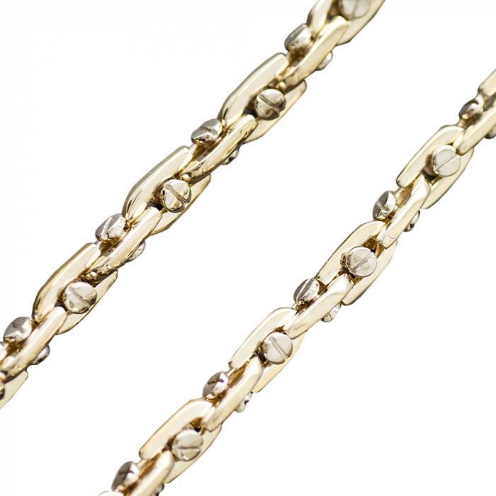 Цепь Baraka Падуя из желтого золота фантазийного плетения 000082693