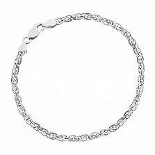 Серебряный браслет Монреаль с родием, 3,5 мм