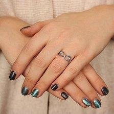 Серебряное кольцо Бесконечная любовь мотылька