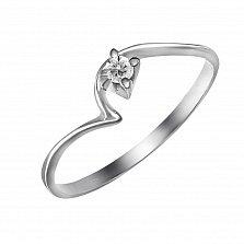 Кольцо из белого золота Рандеву с бриллиантом