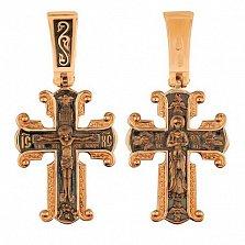 Крест Дева Мария в красном золоте