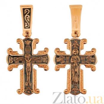 Крест Дева Мария в красном золоте VLT--КС1-3045-3
