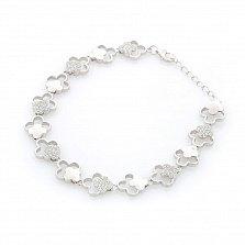 Серебряный браслет Бабетта с кристаллами циркония