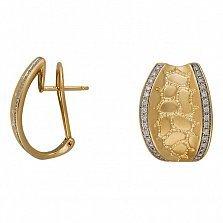 Серьги из желтого золота Белинда с бриллиантами