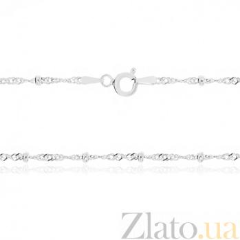 Серебряная цепь Атланта с родированием, 50 см 000030855