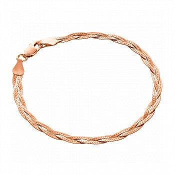 Серебряный позолоченный браслет, 3,5мм 000057227