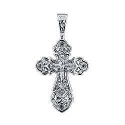 Православный серебряный крестик 000134850