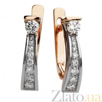 Золотые серьги с бриллиантами Екатерина 000030548