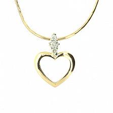 Золотой кулон Тамила с бриллиантами