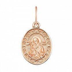 Ладанка из красного золота Божия Матерь Владимирская 000135570