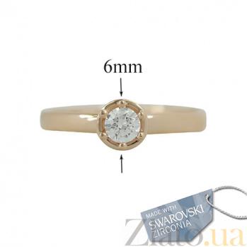 Кольцо с кристаллом Swarovski 2К171-0003