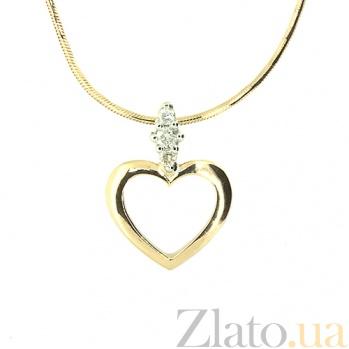 Золотой кулон Тамила с бриллиантами 000021692