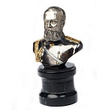 Серебряная статуэтка бюст Николай Второй