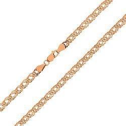 Серебряная цепь с позолотой, 3 мм 000047411