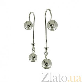 Серебряные серьги Шанталь с фианитами TNG--470104С