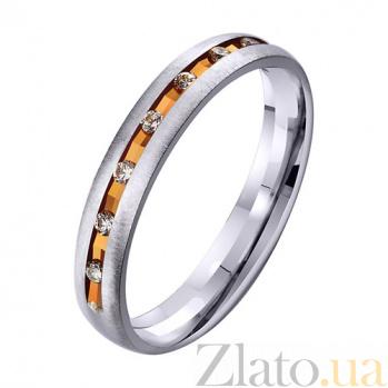 Золотое обручальное кольцо Semper Fidelis с фианитами TRF--412955
