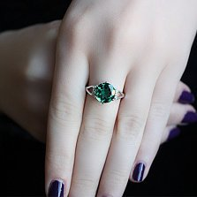 Серебряное кольцо с зеленым кварцем Мелина
