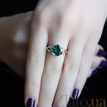 Серебряное кольцо с зеленым кварцем Мелина 000015071