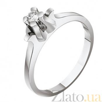 Кольцо из золота с бриллиантом Белый тюльпан EDM--КД7450/1