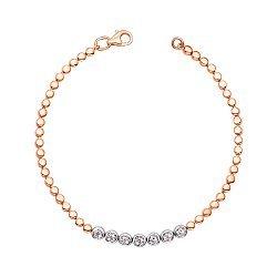 Золотой браслет в комбинированном цвете с бриллиантами 000143770