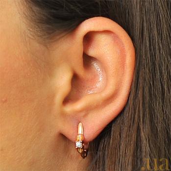 Серьги из красного золота с бриллиантами Алана EDM--С7521