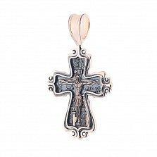 Крестик из красного золота Царица Елена