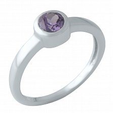 Серебряное кольцо Вартия с завальцованным александритом