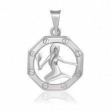 Серебряный подвес Знак Зодиака Дева