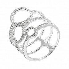 Золотое кольцо Тайные знаки с бриллиантами, р17