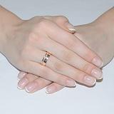 Золотое обручальное кольцо с фианитами Сладость