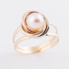 Золотое кольцо Фиона с жемчугом
