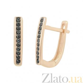 Золотые серьги с фианитами Элиссон 000026565