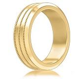 Мужское обручальное кольцо из желтого золота Тайна: Бесконечность
