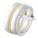 Кольцо из керамики и серебра Меган