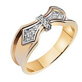 Золотое обручальное кольцо с бриллиантами Элоиза