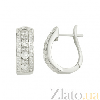 Серебряные серьги с фианитами Ребекка 3С291-0012