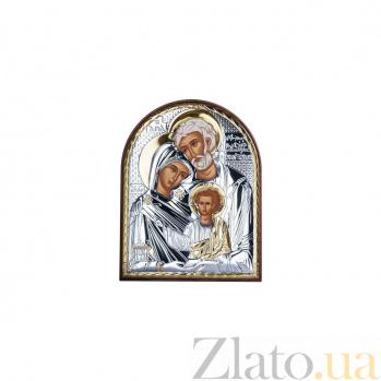 Серебряная икона Святое Семейство 000027127