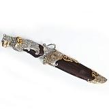 Серебряный нож с позолотой Грифон